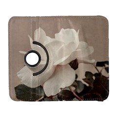 White Rose Vintage Style Photo In Ocher Colors Samsung Galaxy S  Iii Flip 360 Case by dflcprints
