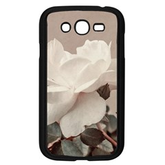 White Rose Vintage Style Photo In Ocher Colors Samsung Galaxy Grand Duos I9082 Case (black) by dflcprints