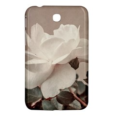 White Rose Vintage Style Photo In Ocher Colors Samsung Galaxy Tab 3 (7 ) P3200 Hardshell Case