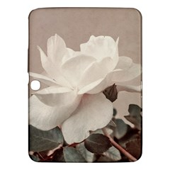White Rose Vintage Style Photo In Ocher Colors Samsung Galaxy Tab 3 (10 1 ) P5200 Hardshell Case