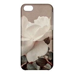 White Rose Vintage Style Photo In Ocher Colors Apple Iphone 5c Hardshell Case by dflcprints
