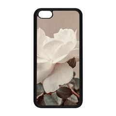 White Rose Vintage Style Photo In Ocher Colors Apple Iphone 5c Seamless Case (black) by dflcprints