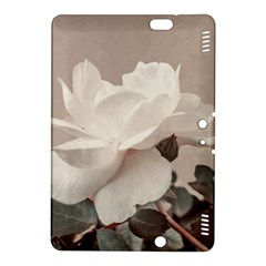 White Rose Vintage Style Photo In Ocher Colors Kindle Fire Hdx 8 9  Hardshell Case by dflcprints