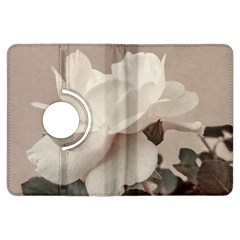 White Rose Vintage Style Photo In Ocher Colors Kindle Fire Hdx Flip 360 Case by dflcprints