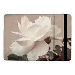 White Rose Vintage Style Photo In Ocher Colors Samsung Galaxy Tab Pro 10 1  Flip Case by dflcprints