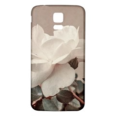White Rose Vintage Style Photo In Ocher Colors Samsung Galaxy S5 Back Case (white) by dflcprints