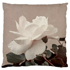 White Rose Vintage Style Photo In Ocher Colors Standard Flano Cushion Case (one Side) by dflcprints