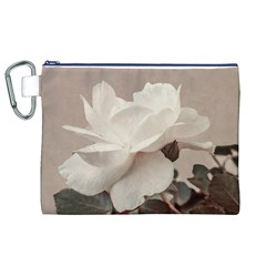 White Rose Vintage Style Photo In Ocher Colors Canvas Cosmetic Bag (xl) by dflcprints