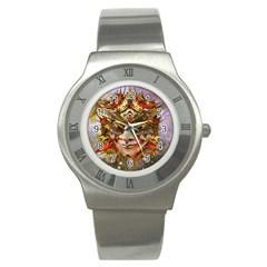 Star Clown Stainless Steel Watch (slim) by icarusismartdesigns