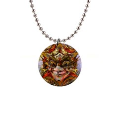 Star Clown Button Necklace by icarusismartdesigns