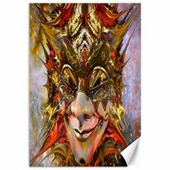 Star Clown Canvas 12  X 18  (unframed) by icarusismartdesigns