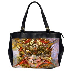 Star Clown Oversize Office Handbag (two Sides) by icarusismartdesigns