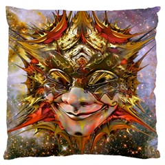 Star Clown Large Cushion Case (two Sided)  by icarusismartdesigns