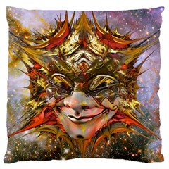Star Clown Large Flano Cushion Case (Two Sides) by icarusismartdesigns