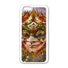 Star Clown Apple Iphone 6 White Enamel Case by icarusismartdesigns