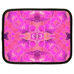 Beautiful Pink Coral  Netbook Sleeve (large) by OCDesignss