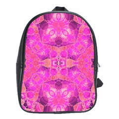 Beautiful Pink Coral  School Bag (large) by OCDesignss