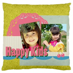 Kids By Kids   Large Flano Cushion Case (two Sides)   948frtaclxt0   Www Artscow Com Front