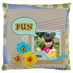 Kids By Kids   Large Flano Cushion Case (two Sides)   Iywdeasachnn   Www Artscow Com Front
