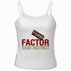 Form Factor Bass Instinct White Spaghetti Top by goodmusic