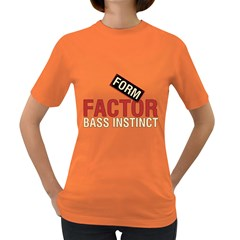 Form Factor Bass Instinct Women s T Shirt (colored) by goodmusic