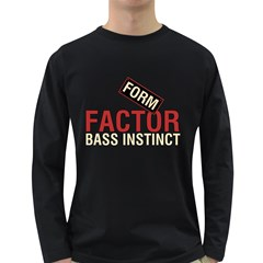 Form Factor Bass Instinct Men s Long Sleeve T Shirt (dark Colored) by goodmusic