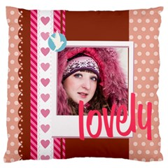 Love By Ki Ki   Large Flano Cushion Case (two Sides)   Ukwc1zhyco22   Www Artscow Com Front