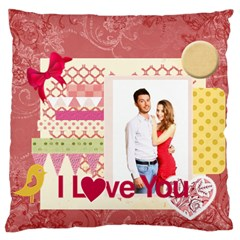 Love By Ki Ki   Large Flano Cushion Case (two Sides)   58oh7ers52nj   Www Artscow Com Front