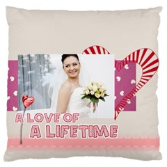 Love By Ki Ki   Large Flano Cushion Case (two Sides)   Nrlwf5m8ota0   Www Artscow Com Back