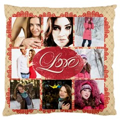 Love By Ki Ki   Large Flano Cushion Case (two Sides)   Msvqpaelfeqi   Www Artscow Com Front