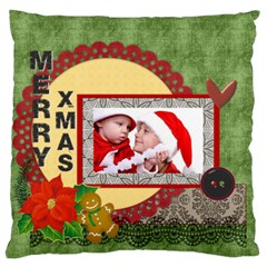 Xmas By Debe Lee   Large Flano Cushion Case (two Sides)   Teblhq9yps24   Www Artscow Com Back