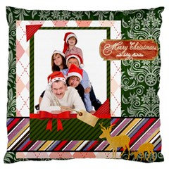 Xmas By Betty   Large Flano Cushion Case (two Sides)   Ukpcfoc8k2qn   Www Artscow Com Back