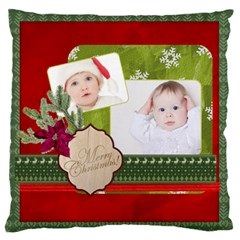Xmas By Betty   Large Flano Cushion Case (two Sides)   7fflc4louw1s   Www Artscow Com Back