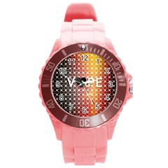 Vape Retro Pattern  Plastic Sport Watch (Large) by OCDesignss