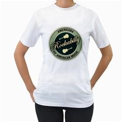 Vintage Americana Rockabilly Women s T Shirt (white)