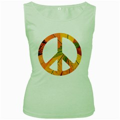 Pease,love,music Old Women s Tank Top (green) by goodmusic