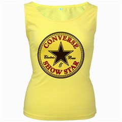 Converse Show Star   Women s Tank Top (yellow) by goodmusic