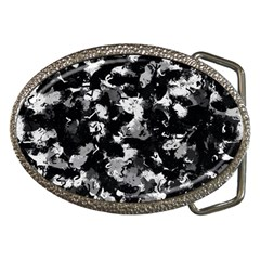 Shades Of Gray  And Black Oils #1979 Belt Buckle (oval)
