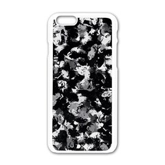 Shades Of Gray  And Black Oils #1979 Apple iPhone 6 White Enamel Case
