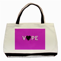 Vape Heart Twin Sided Black Tote Bag by OCDesignss