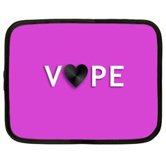 Vape Heart Netbook Sleeve (xxl) by OCDesignss