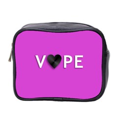 Vape Heart Mini Travel Toiletry Bag (two Sides) by OCDesignss