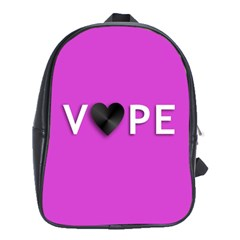Vape Heart School Bag (xl) by OCDesignss