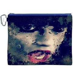 Abstract Grunge Jessie J  Canvas Cosmetic Bag (XXXL) by OCDesignss