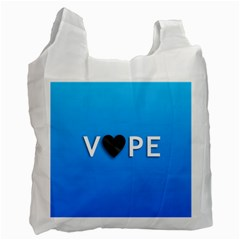 Vape Heart  White Reusable Bag (one Side) by OCDesignss