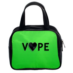 Vape Heart Classic Handbag (two Sides) by OCDesignss