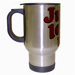 Just Love Me Text Typographic Quote Travel Mug (silver Gray)