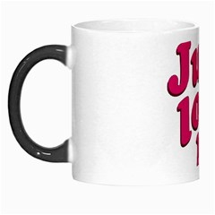 Just Love Me Text Typographic Quote Morph Mug by dflcprints