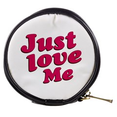 Just Love Me Text Typographic Quote Mini Makeup Case by dflcprints