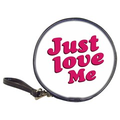 Just Love Me Text Typographic Quote Cd Wallet by dflcprints